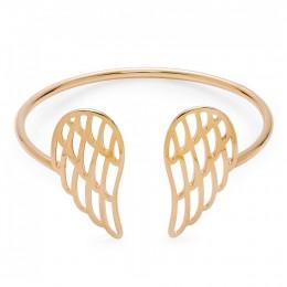 Pozlacený ažurový náramek křídla