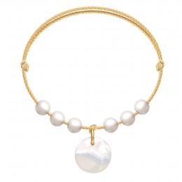 Náramek Pearl Harmony na zlatém provázku premium