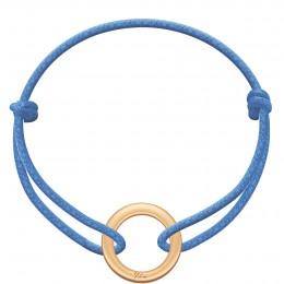 Náramek s pozlaceným kroužkem La Roue na silném modrém provázku