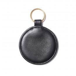 Klíčenka ve tvaru medailonku, černá, zlaté kování