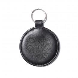 Klíčenka ve tvaru medailonku, černá, stříbrné kování