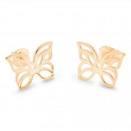 Pozlacené náušnice ažurové motýli