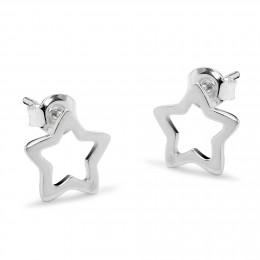 Stříbrné náušnice ažurové hvězdy
