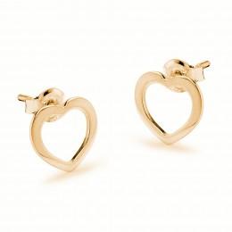 Náušnice ažurová srdce ze zlata ryzosti 585