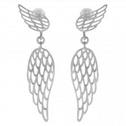 Stříbrné visací náušnice Křídla