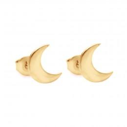 Pozlacené náušnice Lune na puzetě
