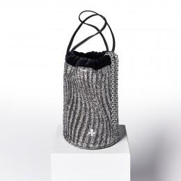 Kabelka Maia, stříbrno - grafitový vzor