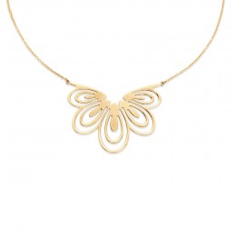 Pozlacený náhrdelník Páv