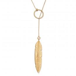 Pozlacený náhrdelník Peří