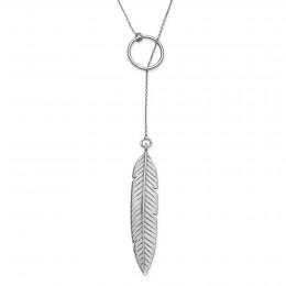 Stříbrný náhrdelník Peří