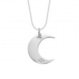 Stříbrný náhrdelník Lune na tenkém klasickém řetízku