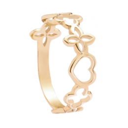 Ažurový prsten- žluté zlato