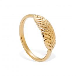 Pozlacený prsten Peří