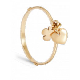 Prsten s visícími prvky žluté zlato o ryzosti 585