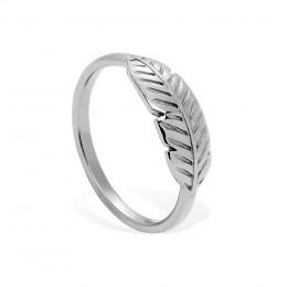 Stříbrný prsten Peří