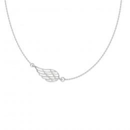 Náhrdelník se stříbrným ažurovaným křídlem na řetízku