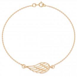 Náramek s ažurovým křídlem ze zlata ryzosti 585
