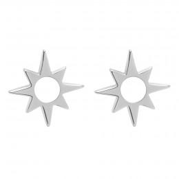 Náušnice Star ažurové stříbrné