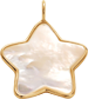Hvězdička z perleti 1,5 cm ve zlatém rámečku