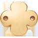 pozlacený okrouhlý štítek se čtyřlístkem