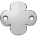 stříbrný okrouhlý štítek se čtyřlístkem