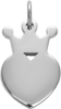 Koruna King 1,5 cm stříbrná