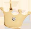 Koruna Princess 1,5 cm pozlacená