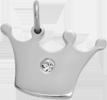 Koruna Princess 1,5 cm stříbrná