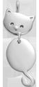 Stříbrný přívěšek Kočka 2,3 cm