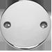 stříbrný plochý medailon