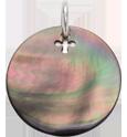 medailon z tmavé perleti 2 cm SR