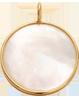 Medailon z perleti 1,5 cm ve zlatém rámečku