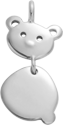 Stříbrný přívěšek Medvídek 1,7 cm