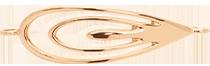 pozlacený prvek Páv 4,5 cm