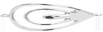 stříbrný prvek Páv 4,5 cm