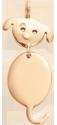 Pozlacený přívěšek Pejsek 2,2 cm