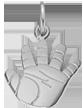 Stříbrný narozeninový talisman