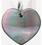 srdce z tmavé perleti 1,5 cm SR