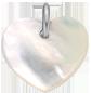 srdíčko z perletě 1,5 cm SR