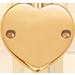 ploché pozlacené srdce