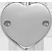ploché stříbrné srdce