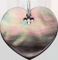 srdce z tmavé perleti 2 cm SR