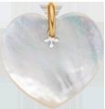 srdíčko z perletě 2 cm PO