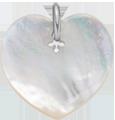 srdíčko z perletě 2 cm SR