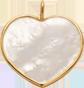 Srdce z perleti 1,5 cm ve zlatém rámečku