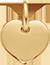 pozlacené srdce 1 cm