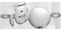 Stříbrný zajíček na ruku 2,3 cm