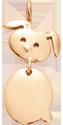 Pozlacený přívěšek Zajíček 1,8 cm