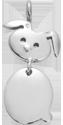 Stříbrný přívěšek Zajíček 1,8 cm