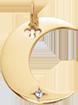 Přívěsek Lune pozlacený 2 cm